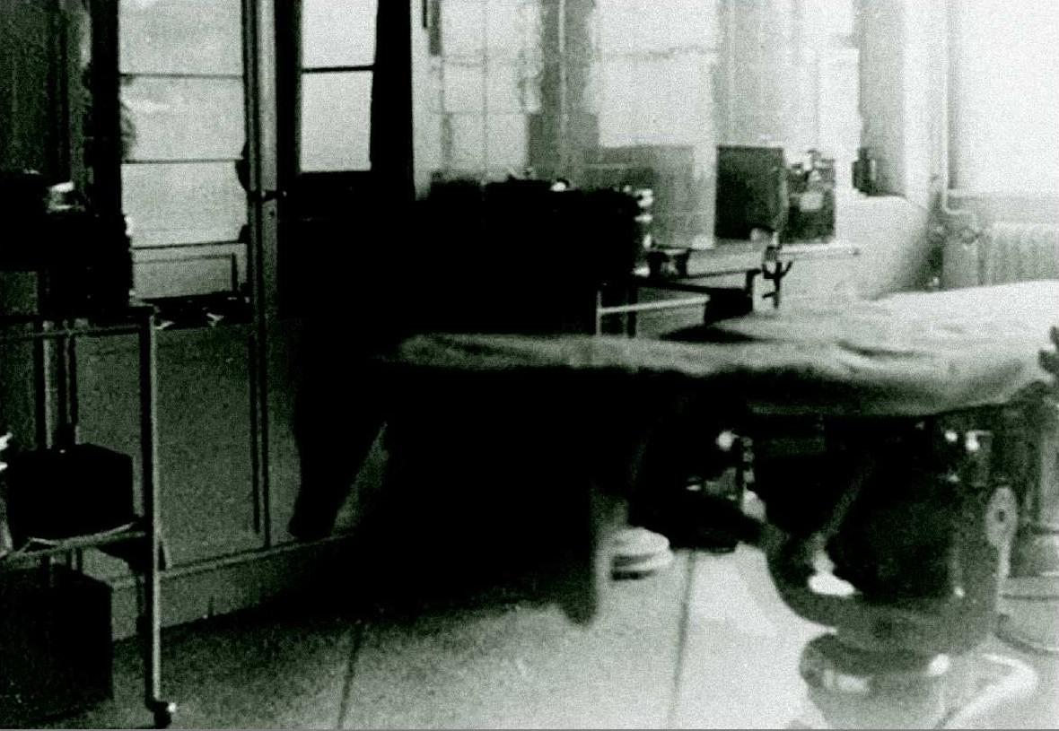 Sala operatoria del lager di Sachsenhausen